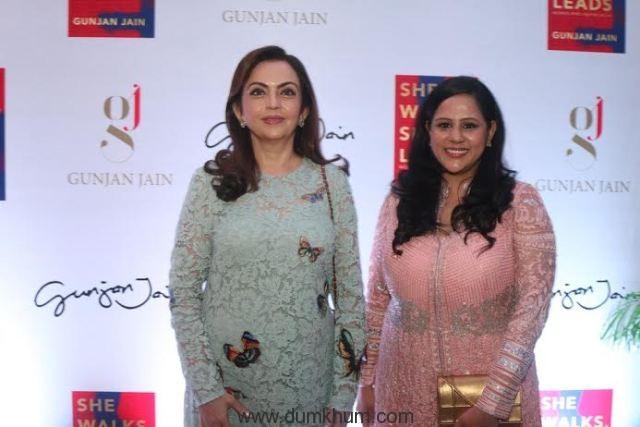 Ms. Nita Ambani & Author Gunjan Jain at the launch of She Walks She Leads.