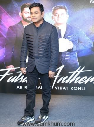 Music Maestro A R Rahman at the launch of Premier Futsal official anthem-1