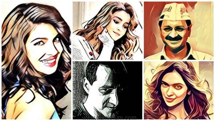 Priyanka Chopra, Alia Bhatt, Arvind Kejriwal, Dale Bhagwagar and Deepika Padukone in Prisma images.