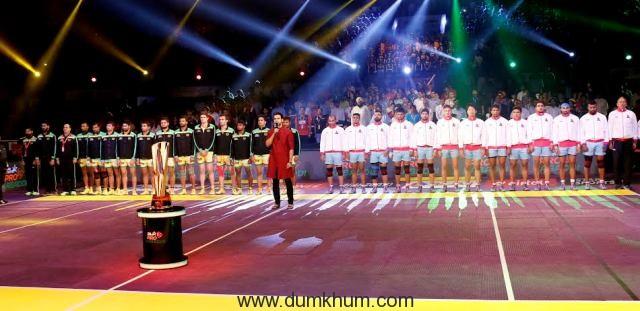 Rajkummar Rao sings national anthem at Sports Pro Kabaddi Season 4