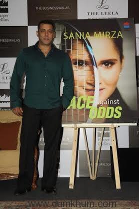 Salman Khan at Sania Mirza book launch