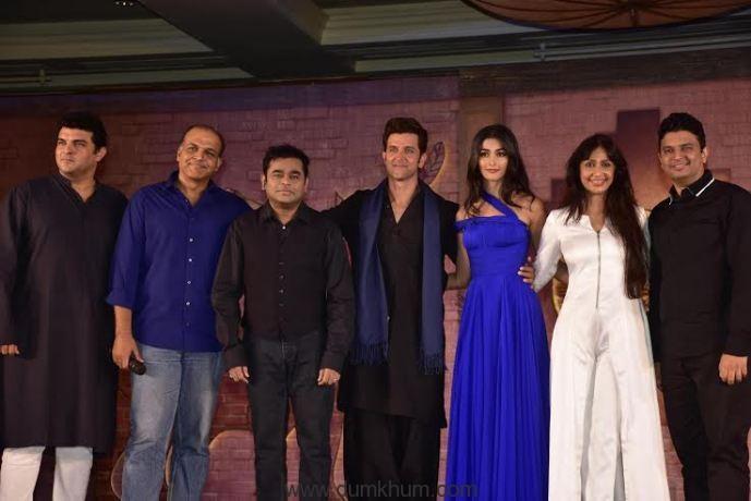 Sidharth Roy Kapur, Ashutosh Gowariker, A R Rahman, Hrithik Roshan, Pooja Hegde, Sunita Gowariker & Bhushan Kumar