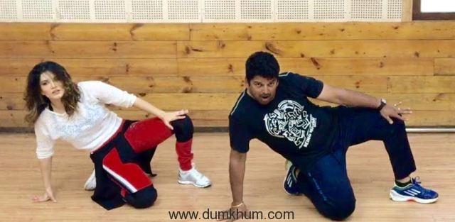 Sunny Leone dance reherasal with Vishnu Deva