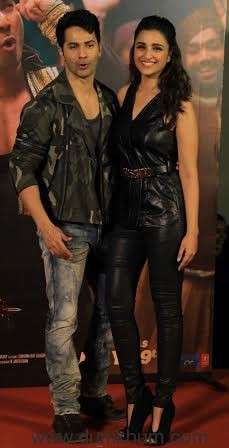 Varun Dhawan and Parineeti Chopra launch (Jaaneman Aah) from Dishoom-1