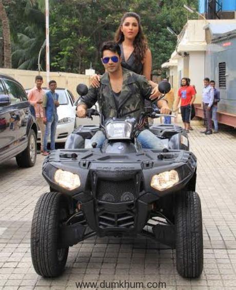 Varun Dhawan and Parineeti Chopra launch (Jaaneman Aah) from Dishoom-3