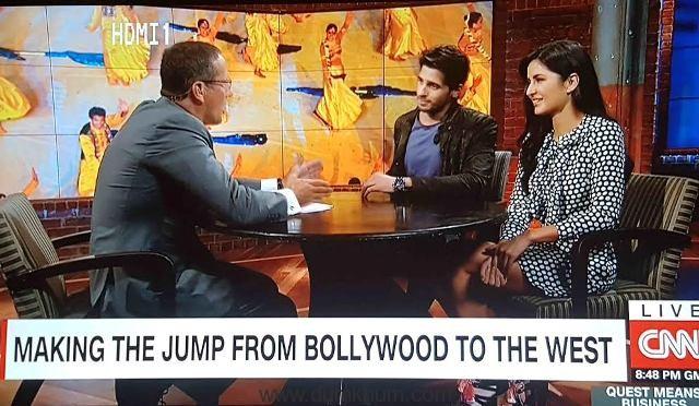 Katrina & Sidharth on CNN (reduced