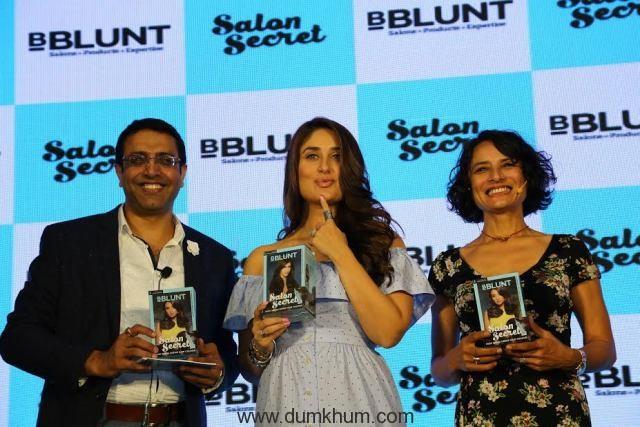 Launch of BBLUNT Salon Secret - new at-home hair color. LtoR - Sunil Kat...