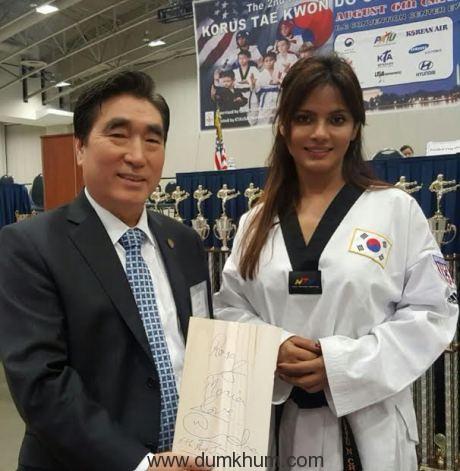 Neetu N Chandra represents India at the Korean Ambassador's Korus Taekwondo World Championship!