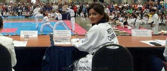 Neetu N Chandra represents India at the Korean Ambassador's Korus Taekwondo World Championship-1