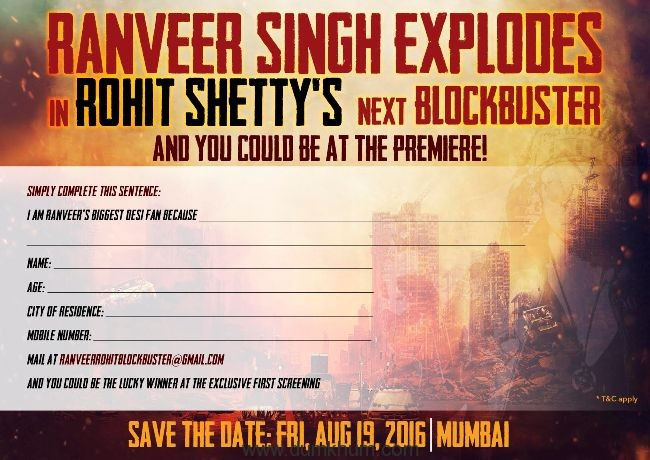 ROHIT SHETTY & RANVEER COOK UP DRAMATIC LAUNCH FOR THEIR FANS!