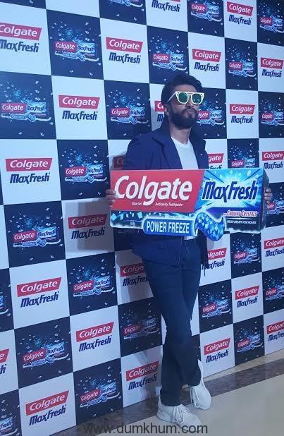 Ranveer Singh at Colgate M ... h PowerFreeze launch