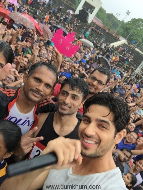 Sidharth Malhotra At Monsoon Run