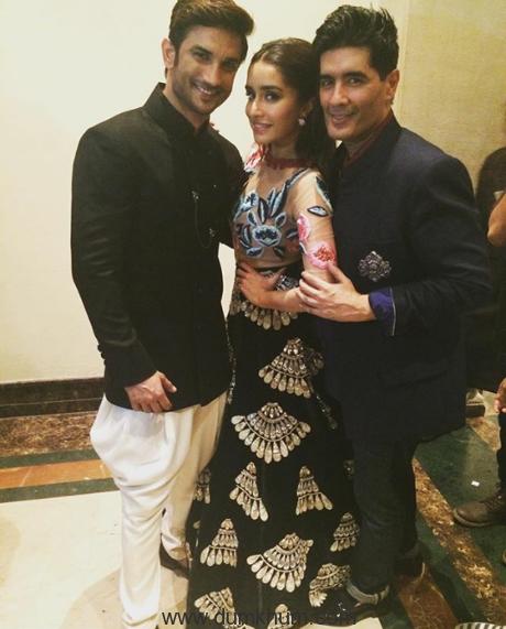 Sushant Singh Rajput, Manish Malhotra and Shraddha Kapoor 2