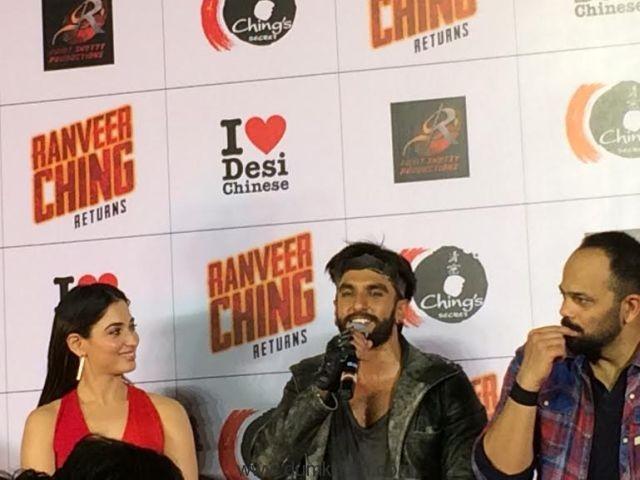 Tamannaah Bhatia, Ranveer Singh & Rohit Shetty