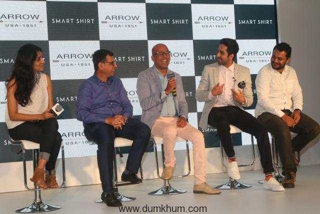 in conversation with Stylist Ami Patel, Mr Suresh- CEO- Arvind Lifestyle Brands, Designer Narendra Kumar, Actor Ayushmaan Khurrana and Ivan Mehta.