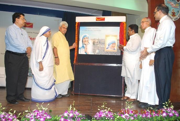 Commemorative postage stamp on St. Teresa released in Mumbai