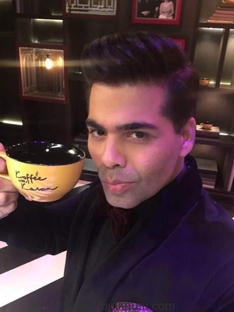 Karan Johar shoots the promo for koffee with Karan