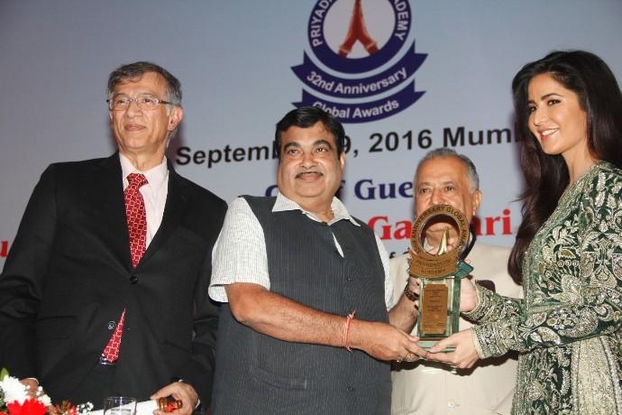 ISRO, Nobel Laureate Dr. Venki Ramakrishnan, Bollywood Actresses Katrina Kaif & Juhi Chawla were presented the Prestigious Priyadarshni Academy Global Awards 2016