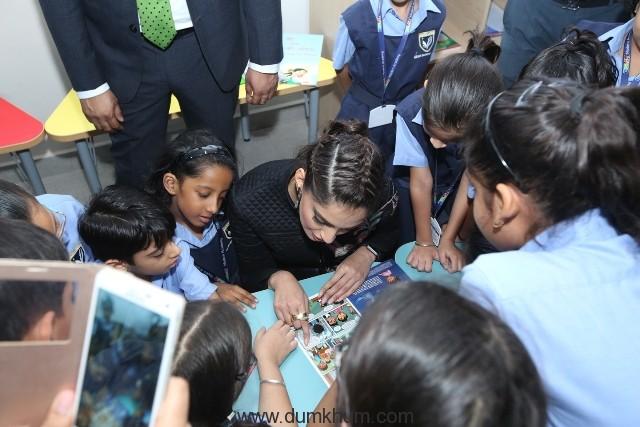 Sonam and School children