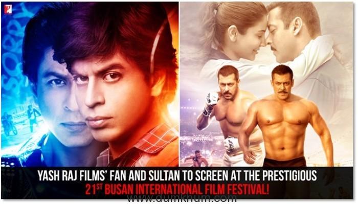 Yash Raj Films' Fan and Sultan To Screen At The Prestigious 21st Busan International Film Festival!