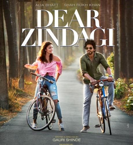 Alia Bhatt & Shah Rukh Khan ride off with Dear Zindagi: Poster Out Now