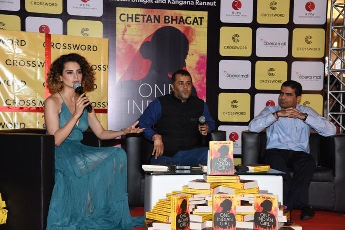 Chetan Bhagat's novel One Indian Girl unveiled by Kangana Ranaut