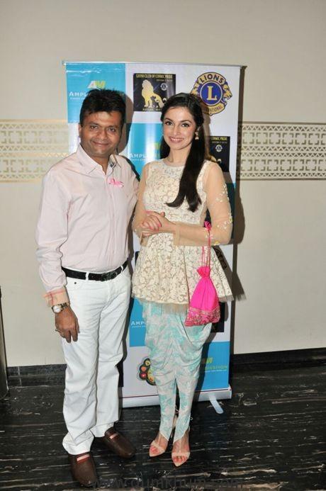 divya-khosla-kumar-with-mr-aneel-murarka-the-organiser-of-the-event