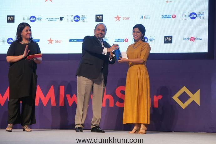 Mastercard recognizes the best Female Film-maker at Jio MAMI 18th Mumbai Film Festival with Star in Mumbai