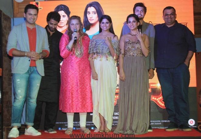 siddharth-chandekar-chetan-chitnis-prod-vidhi-kasliwal-saie-tamhankar-priya-bapat-chirag-patil-dir-sachin-kundalkar-2-at-the-golu-polu-song-launch-of-landmarc-films-movie-vazandar-to-release
