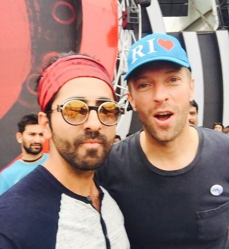 Ayushmann Khurana Poses with Coldplay's Chris Martin Ahead of Mega Global Citizen Concert