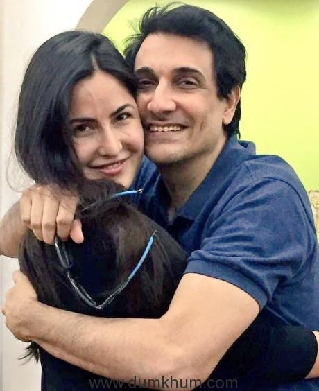 Shiamak Davar with Katrina Kaif at rehearsals for an upcoming award show.