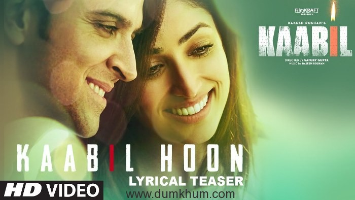 Kaabil's first song teaser, #KaabilHoon is out! Full song releases tomorrow