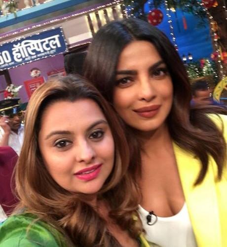 Priyanka Chopra promoting their upcoming film Sarvann