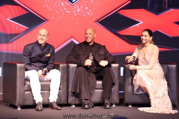 Deepika Padukone and Vin Diesel & D J Caruso-3
