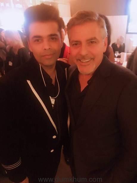 Karan Johar with George Clooney at Davos