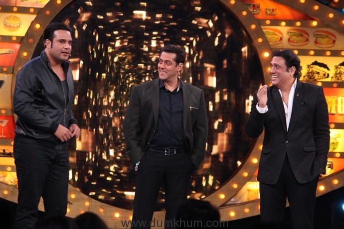 Krushna Abhishek, Govinda and Salman on Bigg Boss Weekend Ka Vaar3