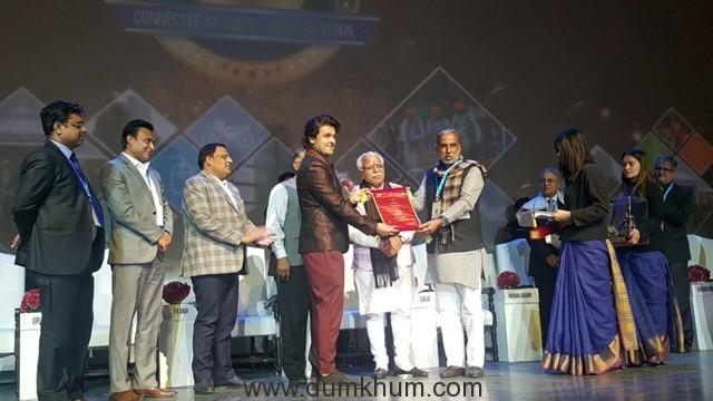 Singer Sonu Nigam has been honored 'Haryana Gaurav Samman' by Haryana Government-