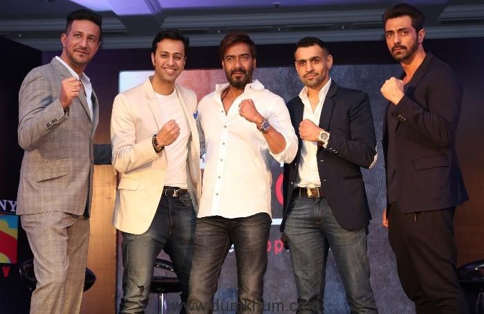 Sulaiman Merchant, Salim Merchant, Ajay Devgn, Bill Dosanjh, CEO and founder of Super Fight League, Arjun Rampal