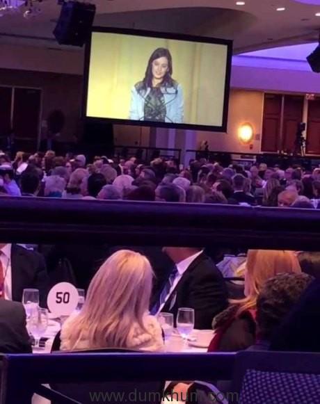 Evelyn Sharma speaking at NPB. Pic 1