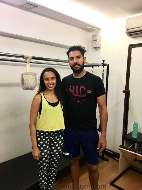 Yuvraj Singh breaks the gender bias against Pilates