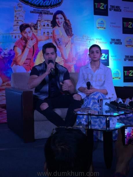 Alia bhatt and Varun dhawan at Lucknow