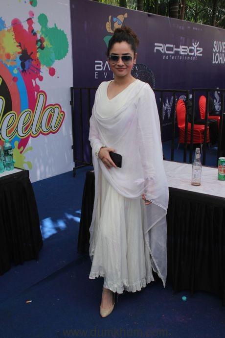 Ankita Lokhande @ Holi Invasion (1)