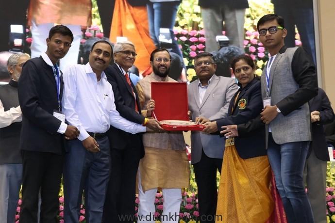 HRD Minister Prakash Javadekar honours Maharashtra's ASC College, Palus-
