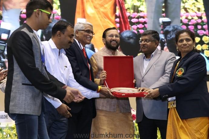 HRD Minister Prakash Javadekar honours Maharashtra's ASC College, Palus