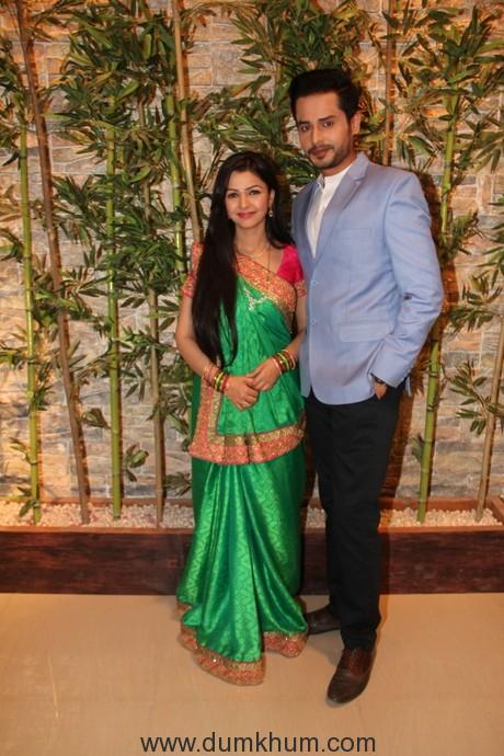 Kirti Nagpure and Shradul Pandit at the launch of &TV's Kuldeepak