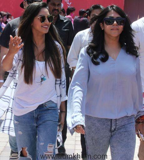 Krystle D'Souza and Ekta Kapoor @ Holi Invasion