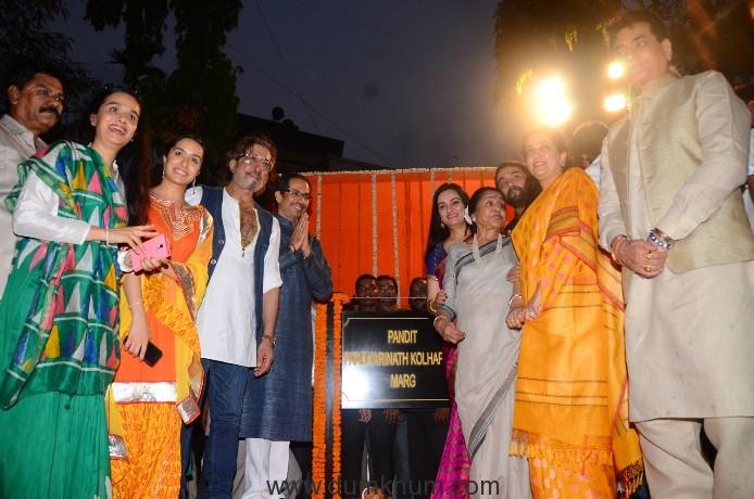 Uddhav Thackeray, Asha Bhosle, Shraddha Kapoor and more at inauguration of Pandit Pandharinath Kolhapure Marg