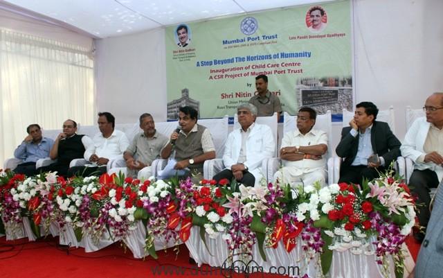 Nitin Gadkari inaugurated Child Care Centre of Mumbai Port Trust-1