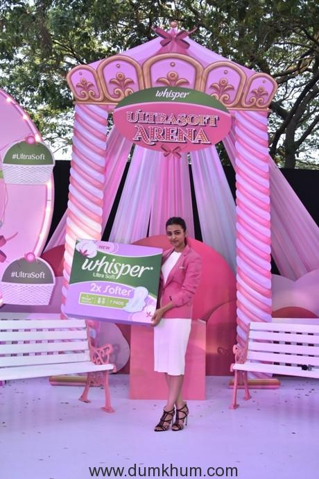 Radhika Apte celebrates the launch of New Whisper Ultra Soft