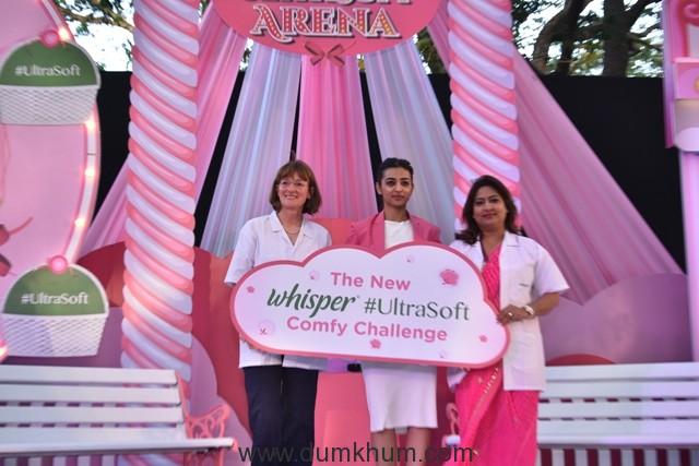 Radhika Apte celebrates the launch of the New Whisper Ultra Soft_